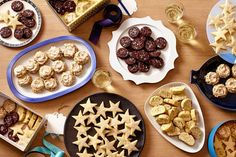 BAKED GREATS | Clockwise from top: Chocolate Crunch Shortbread, Grammy's (Gussied Up) Biscotti, Stars of...