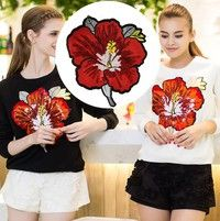 Large Flowers SEQUINED patches for t-shirt Sew-on or iron-on patch deal with clothing DIY Motif Applique Cheap Patches, Sew On Patches, Iron On Patches, Handmade Clothes, Diy Clothes, Diy Adornos, Sequin Patch, 3d Rose, Clothing Patches
