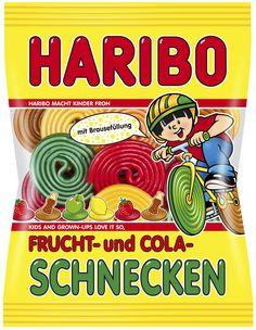 HARIBO FRUCHT- und COLA-SCHNECKEN sind Fruchtgummi-Schnecken mit Brausefüllung. Eine fruchtige Erweiterung der Schnecken-Produktpalette mit besonders prickelndem Geschmackserlebnis.