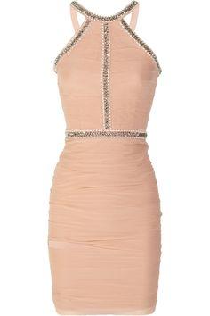 RACHEL GILBERT  Marchella Embellished Silkgeorgette Dress