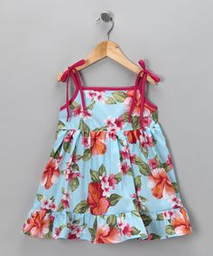 Look at this #zulilyfind! Blue Hawaiian Dress - Infant, Toddler & Girls by De n' L #zulilyfinds. $18.99