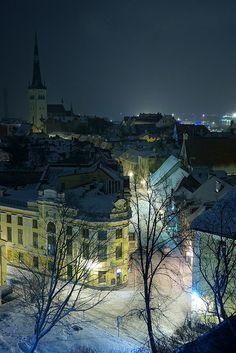 Street at Night, Tallinn, Estonia #COLOURFULESTONIA #VISITESTONIA