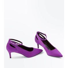 Designer Clothes, Shoes & Bags for Women Purple Satin, Kitten Heels, Shoe Bag, Stuff To Buy, Accessories, Shopping, Collection, Shoes, Polyvore