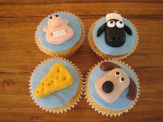 Wallace and Gromit cupcakes