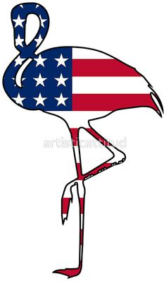 Clip Art Of A Pair Of American Flag Flip Flops Usa
