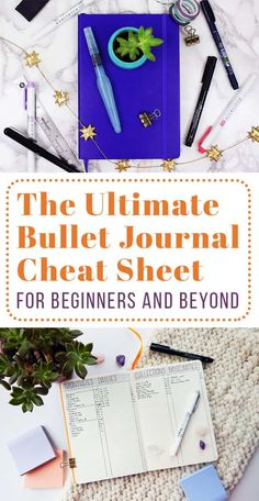 If you're brand new to this whole bullet journal thing or you've been at it for a while, then this bullet journal cheat sheet is perfect for you. This post is stuffed with helpful tips, tutorials, and advice for every experience level. The bullet journal is an incredibly flexible tool - see what it can do for you!