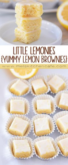 These Little Lemonies are like little bites of sweet, fresh, lemony heaven.