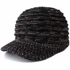 fb827846e63 Mens Winter Hats with Visor Warm ski hat Stylish Knitted hat Top Quality  New  fashion