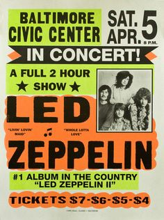 vintage posters | Wanna decorate your home with vintage posters from classic concerts ...