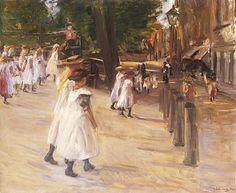 On the Way to School in Edam, 1904 - Max Liebermann -