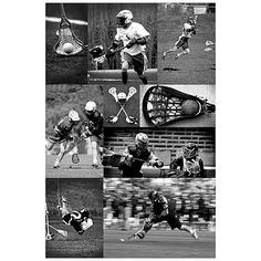 Lacrosse Collage Wall Mural - good idea to do with photos of Zac playing his sports to hang on his bedroom walls