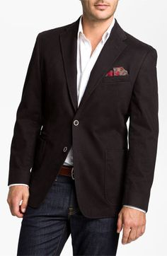 Black Joseph Abboud Sportcoat with Jeans