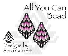 Peyote Earrings Pattern 155 Bead Weaving INSTANT DOWNLOAD PDF