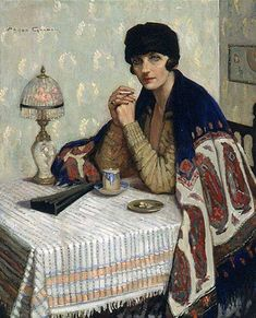 Agnes Goodsir Girl avec Cigarette 1925