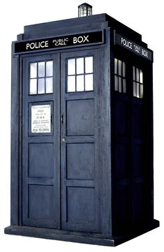 High-quality image of Ten's TARDIS