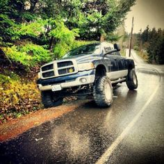 Just like a dodge to be on the side of the road. Haha  *Probably pulled over to help out a Ford*