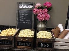 Love this popcorn bar by Main Stream Events and PR Firm Wedding Popcorn Bar, Wedding Snacks, Wedding Appetizers, Popcorn Bar Party, Dessert Buffet, Candy Buffet, Dessert Bars, Candy Popcorn, Flavored Popcorn