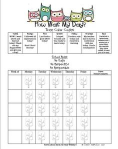 I just made this owl behavior tracker to go along with my clip chart!
