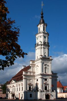 A Church in Kaunas City, Lithuania Sacred Architecture, Beautiful Architecture, Beautiful Buildings, Beautiful Places, Lithuania Travel, Poland Travel, Italy Travel, Baltic Region, Place Of Worship