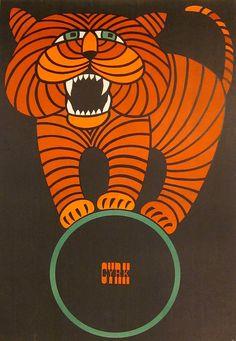 Cyrk - Polish circus poster