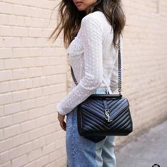 Ysl Handbags, Luxury Handbags, Designer Handbags, Designer Bags, Look Fashion, Fashion Bags, Womens Fashion, Fashion Jewelry, Sac A Main Ysl