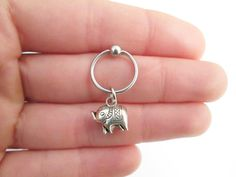 Elephant helix rook piercing by StylesBiju on Etsy Cartilage Hoop, Rook Piercing, Piercings, Rook Jewelry, Kugel, Elephant, Etsy, Glamour, Piercing Ideas