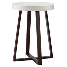 Threshold Accent Table Triangle with White Top - Espresso/White $47.99