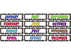 Teacher Created Resources Fancy Stars Monthly Headliners Headliners add instant appeal to any classroom! Use them as titles for bulletin board displays. Line them up along a wall, above a chalkboard, or use them to create classroom centers. Classroom Displays, Classroom Themes, Classroom Organization, Stars Classroom, Classroom Calendar, Bulletin Board Display, Bulletin Boards, Teacher Created Resources, Personalized Stickers