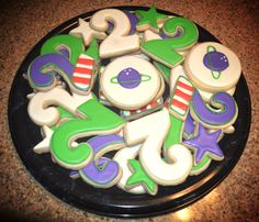 Buzz lightyear birthday party cookies Toy story birthday Birthday cookies Buzz… More