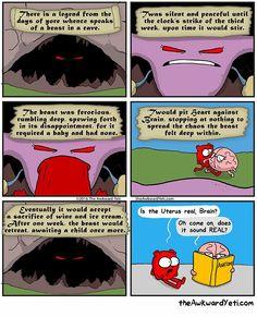 Periods by Awkward Yeti  Heart and Brain