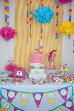 TEA Party with Baby DOLLS and Tutus Birthday Party Printable COLLECTION - Bold - Princess Tea Party Printables. $49.00, via Etsy.