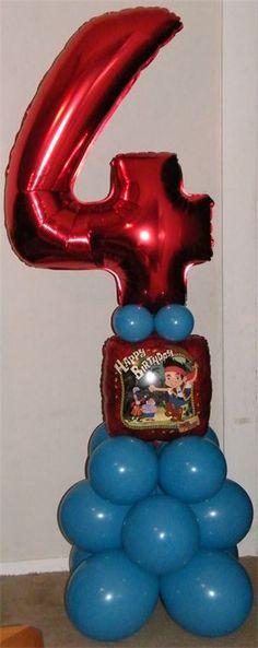 Birthday Age Balloon Column