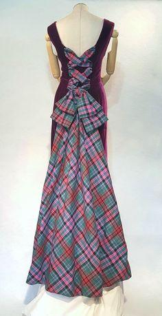 "Scottish Couture Tartan and Silk Velvet  (AKA ""The Lady Peacock"")"