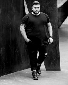 Casual Plus Size Outfit For Handsome Man 13 Mens Plus Size Fashion, Chubby Men Fashion, Large Men Fashion, Men Fashion Show, Mens Fashion Suits, Look Fashion, Man Fashion, Fashion Ideas, Looks Plus Size