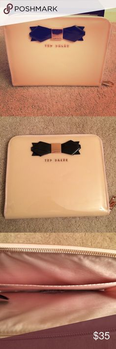 Ted Baker Accessory Gently used Rose Gold letters Black Bow Ted Baker Bags Clutches & Wristlets
