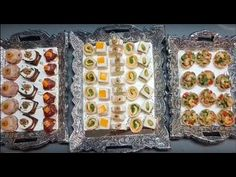 10 assortiments de canapés salés très facile - YouTube Tapas, Canapes Faciles, Page Facebook, Food Trays, Appetisers, Time To Celebrate, Snacks, Creative Food, High Tea