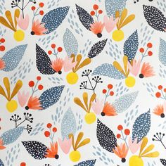 Eeee! I like it! I used a combo of watercolor and white gouache for this pattern…
