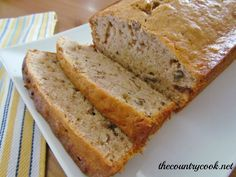 Banana Nut Bread {so moist & so good!}