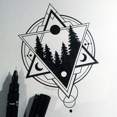 geometric forest // more drawings on my tumblr and instagram (i update ig more frequently)