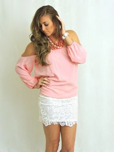 A Thing Called Love Lace Skirt - White