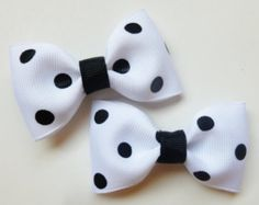 black and white polka dot hair inch tuxedo--dalmation birthday party favors or halloween costume