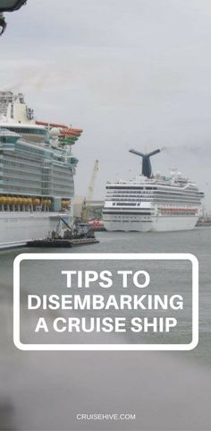 Here are some tips to help guide you through Disembarking a #cruise ship.