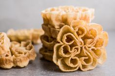 Rosette Cookies Are a Special Scandinavian Christmas Treat Rosettes Cookie Recipe, Rosette Recipe, Rosette Cookies, Cake Cookies, Cupcakes, Holiday Treats, Christmas Treats, Holiday Recipes, Christmas Goodies