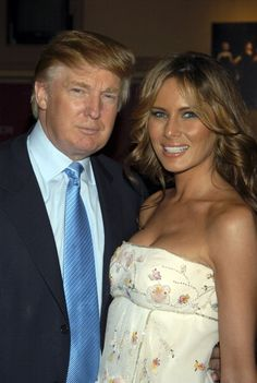 Donald Trump and Melania Trump during Martha Graham Dance Company Opening Night Gala Departures at New York City Center in New York City New York...