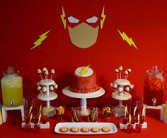 The Flash /red, yellow, and white Birthday Party Ideas   Photo 1 of 18