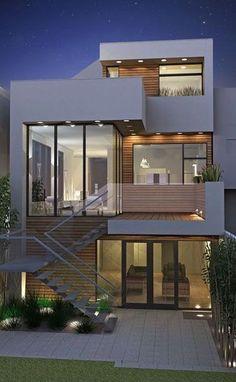 57 Trendy home design minimalist architecture window House Front Design, Modern House Design, Door Design, Exterior Design, Home Modern, Modern Houses, Architecture Design, Minimalist Architecture, Contemporary Architecture