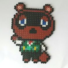 Tom Nook Animal Crossing hama beads by pixel-craft