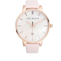 29fc7eae7a8d0a Ted Baker London Classic Stainless Steel and Leather Watch (£130) ❤ liked on