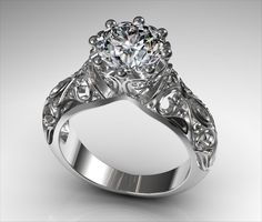 Stunning sophisticated bling ring from 3DESIGN