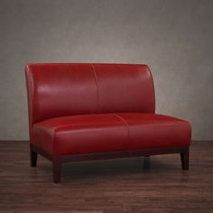 Shop for Copper Grove Cole Burnt Red Leather Loveseat. Get free delivery On EVERYTHING* Overstock - Your Online Furniture Store! Leather Furniture, Sofa Furniture, Furniture Deals, Living Room Furniture, Furniture Online, Office Furniture, Convertible, Home Themes, Living Room Red